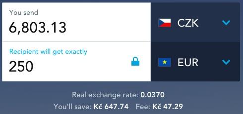 Převod peněz ze zahraničí
