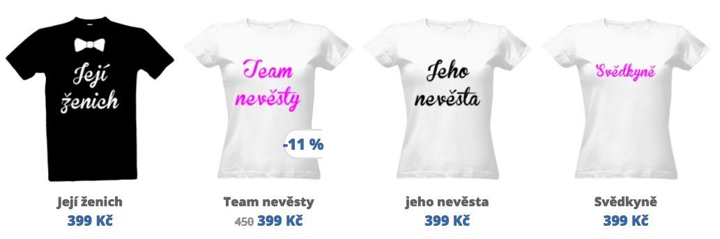 párová trička pro zamilované dvojce