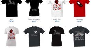 oblečení game of thrones trička